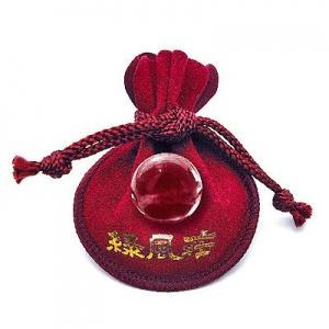 画像: お守り水晶玉(赤巾着付)